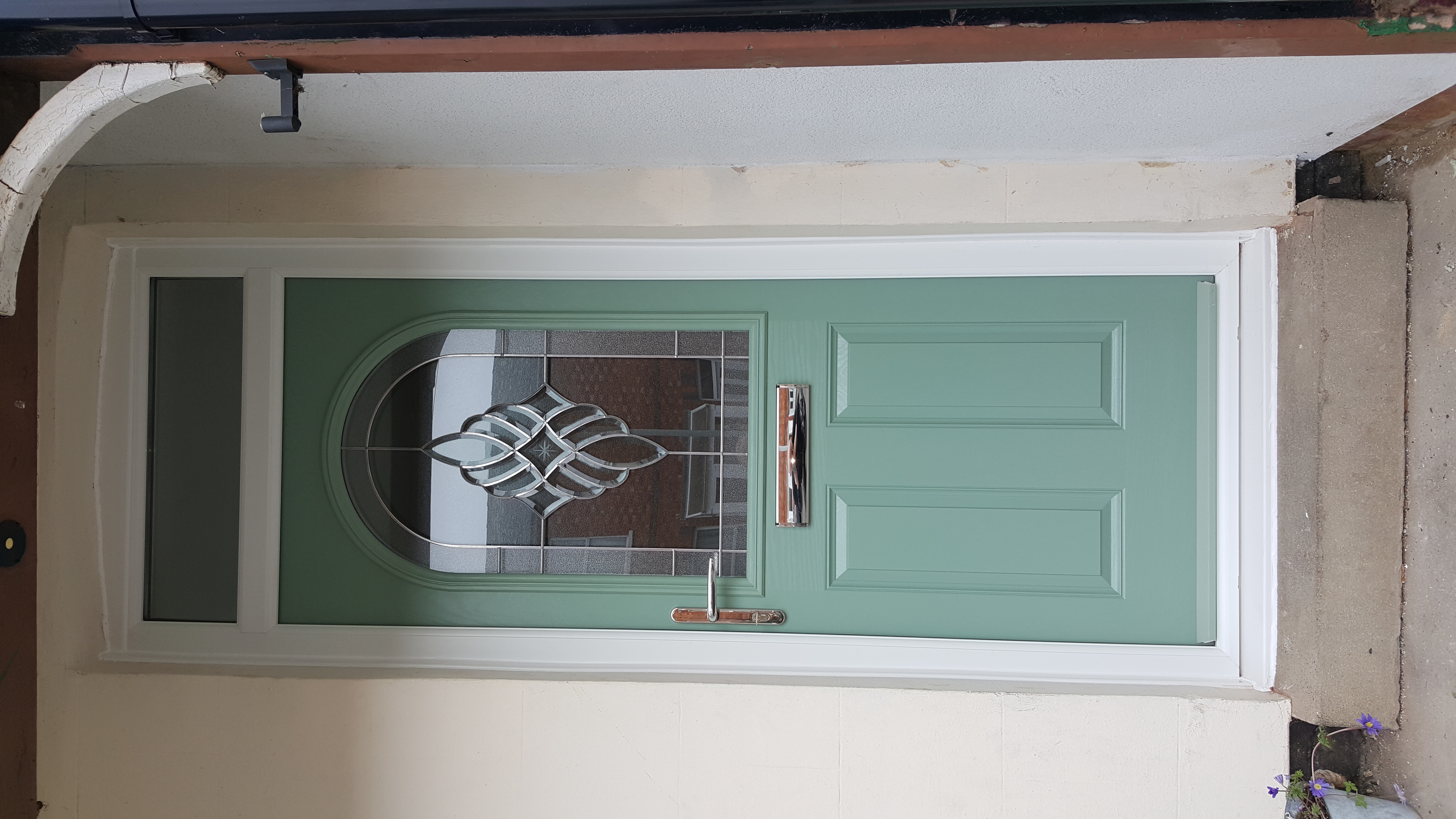 inside view of a newly fitted front door